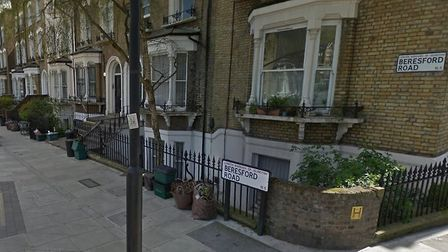 The attempted knifepoint robbery happened in Beresford Road, Highbury. Picture: Google StreetView