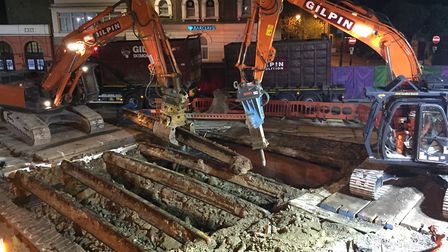 The bridge work has been going on since 2015. Picture: Picture: Jeff Dillon-Russell/TfL