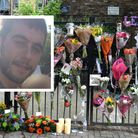 Floral tributes at the gates of Morland Mews for Lee Jay Hatley, inset. Pictures: Polly Hancock/Met
