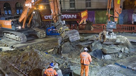 The road will be closed for three weeks over Christmas. Picture: Jeff Dillon-Russell/TfL
