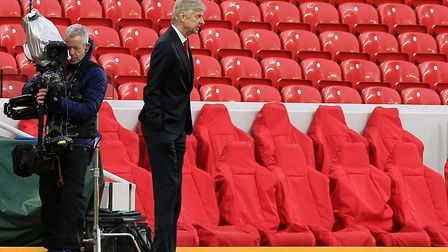 Arsenal manager Arsene Wenger before the Premier League match at Anfield, Liverpool.