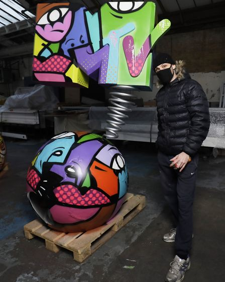 Hunto from Brent with his MTV EMAs pop-up installation (