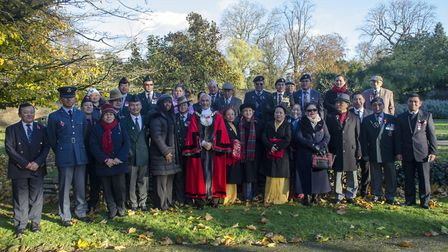 The deputy lieutenant, Mei Sim Lai OBE and the mayor of Brent, Cllr Bhagwanji Chohan with attendees