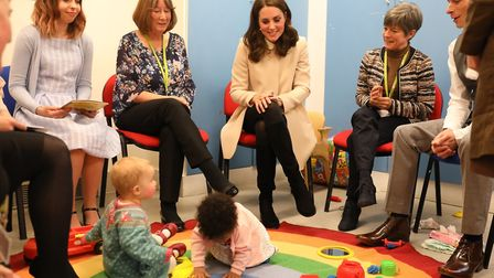 The Duchess of Cambridge visits Hornsey Road Children's Centre in Holloway. Picture: Richard Pohle/T