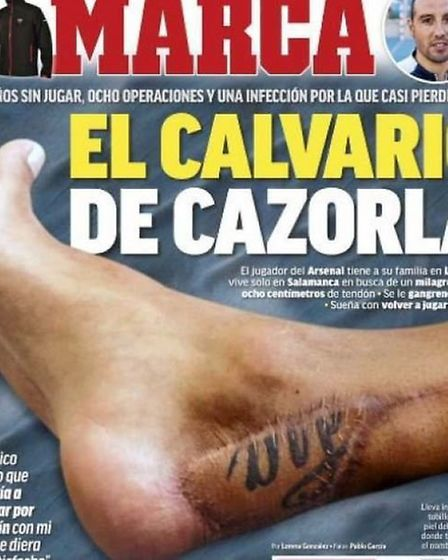 Spanish newspaper Marca broke the story about how severe Cazorla's injury was
