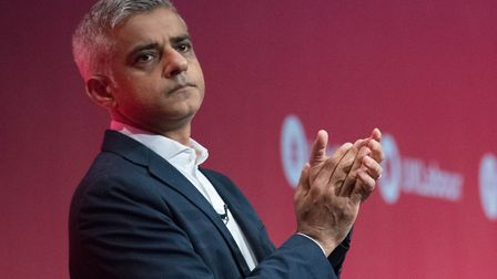 Mayor of London Sadiq Khan, pictured addressing the Labour Party conference in Brighton in September