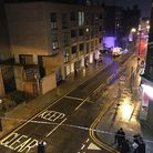 Park Parade was cordoned off on Friday night Picture: Susan Grace