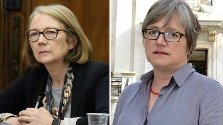 Islington Council chief executive Lesley Seary, left, has apologised after Cllr Caroline Russell, ri