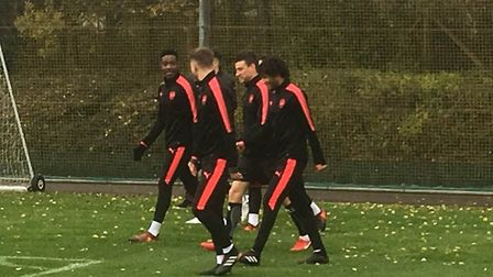 The Islington Gazette watched Arsenal trian ahead of their flight to German to play Cologne. Credit