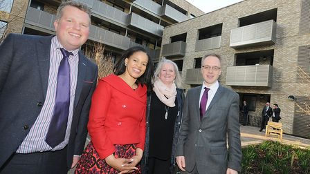 Islington Councillors Diarmaid Ward, Claudia Webbe and Richard Watts with Penny Seal, chair of the K
