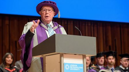 Students who graduated from London Metropolitan University were joined by Richard Wilson, as the ho