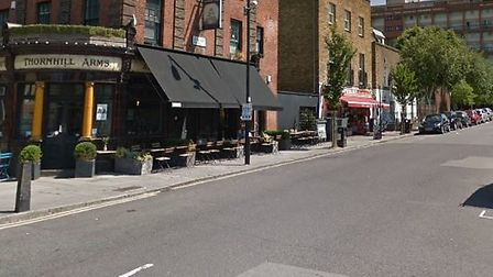 The man was stabbed in Wynford Road, Islington. Picture: Google Maps