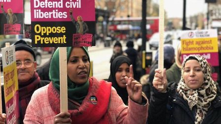 Islington Cllr Rakhia Ismail led a protest outside the Seven Sisters Road branch of McDonald's in Ho