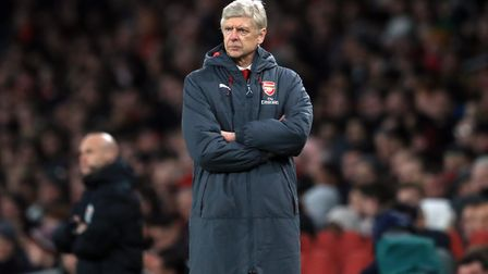 Arsenal manager Arsene Wenger appears dejected at the Emirates Stadium (pic Adam Davy/PA)