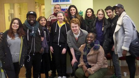 Members of Islington's Dynamic Autism Group at their exhibition at Lauderdale House in Highgate, Pho