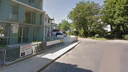 The man was found in the stretch of road seen here. Picture: Google Maps