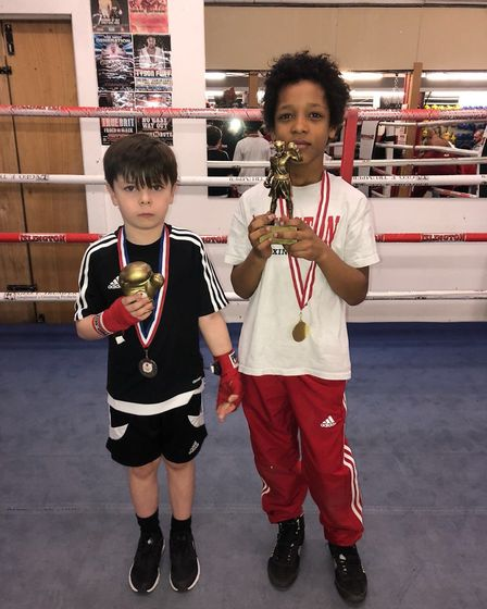Harrison Ozalemdar and Kaine Khan were most improved and best boxer at Islington's Thursday group (p