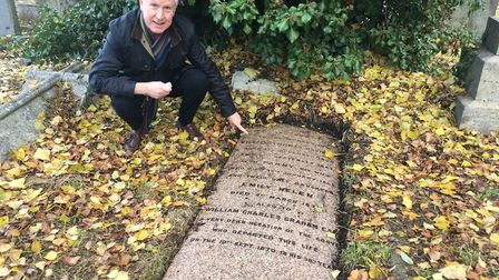 Patrick Daly discovered the graves of Dido Belle's relatives and is having them restored, here the m