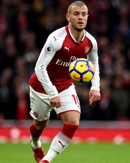 Arsenal's Jack Wilshere during the Premier League match at the Emirates Stadium, London.