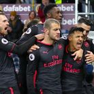 Arsenal's Alexis Sanchez celebrates scoring his side's first goal of the game during the Premier Lea