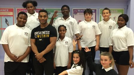 City of London Academy Highgate Hill students are being coached by Islington Boxing Club's Anthony W