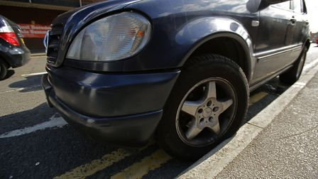 A car parked on double yellow lines in Islington. The council made �19million from parking fines and
