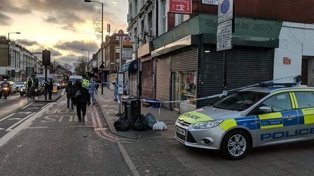 The scene of a serious assault in Seven Sisters Road.