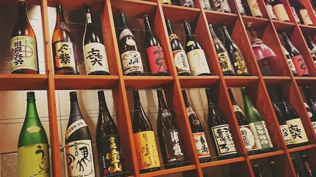 A file image of sake on sale in a Japanese shop. A cafe off Camden Passage has applied for permissio