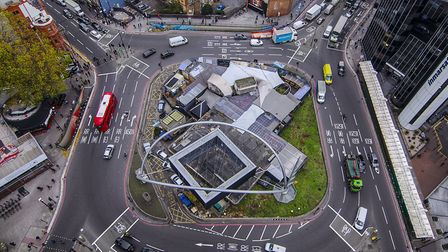 Old Street roundabout as it looks now. Picture: TfL/ Tom Eames