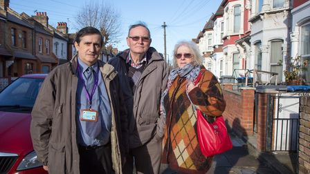 Peter and Carol Reynolds, who had their house broken in to. With Tony Antonio on a nearby Willesden