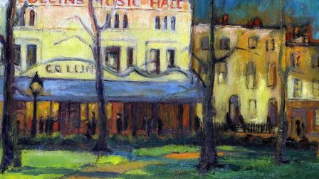 'Collins Music Hall at Night' by Vera Skinner, 1956. The venue, in Islington Green, is now a Waterst