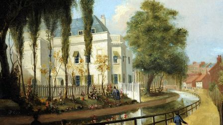 'Sadler�s Wells' by George Belton Moore, circa 1840. This was painted before Rosebery Avenue existed