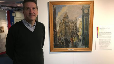 Mark Aston, curator of 'Islington on Canvas: Art from the Archives' at Islington Museum. Picture: Ja