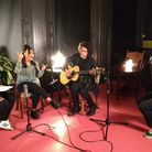 The recording session at the Rosemary Branch Theatre. Picture: Rhiannon Long
