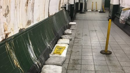 The exit of Finsbury Park station is in a state. Picture: Sam Gelder