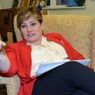 Islington South and Finsbury MP Emily Thornberry inside her Westminster parliamentary office. Pictur