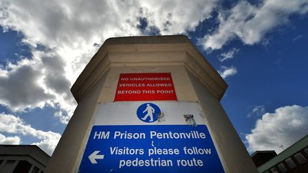 General view of the entrance to Pentonville Prison in Caledonian Road. Picture: Anthony Devlin/PA