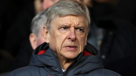 Arsenal manager Arsene Wenger, helpless in the stands during the 4-2 loss to Forest.