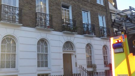 Two fire crews and 10 firefighters were called to Wilmington Square, Clerkenwell, just after 2pm on