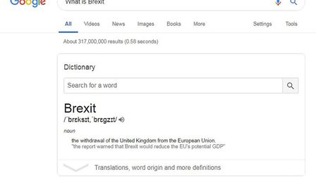 Searching for Brexit on Google