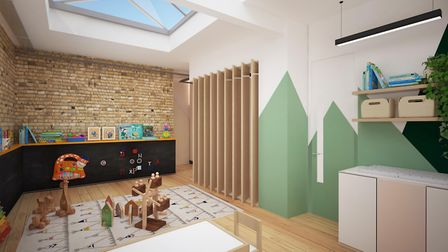The planning application for an office space for working parents iincludes on-site spaces for childc