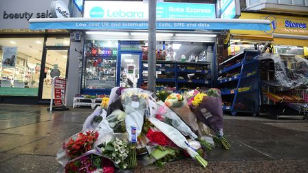 Tributes at the scene in Mill Hill. Picture: Kirsty O'Connor/PA Wire