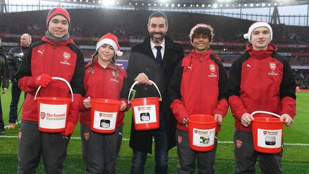 Arsenal legend Robert Pires proudly backed the club's foundation day. Arsenal FC via Getty Images