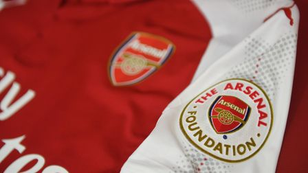 Arsenal played with a special foundation badge against Newcastle United. Credit Arsenal FC via Getty