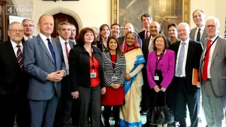 An event attended by Tulip Siddiq MP, Sheikh Hasina and MPs. Picture: C4