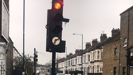 No right turn notice on a lampost on January 11 2018 which wasn't there the night before (Picture: