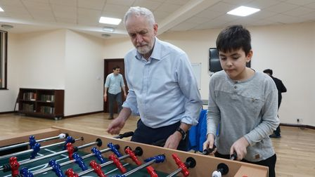 Jeremy Corbyn stopped by at Finsbury Park Mosque's 'meal for all' project last night, as well as a g