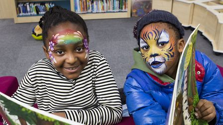 Children enjoy the new Cat and Mouse Library in Holloway. Picture: Steve Bainbridge
