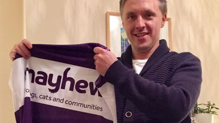 Cllr James Denselow is running his ninth marathon and the third for Mayhew animal charity