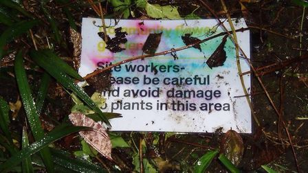 This sign did not work. Picture: Neville Cowton